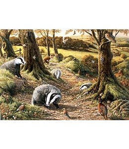 The House of Puzzles Badgers Dell Puzzel 1000 Stukjes