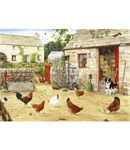 The House of Puzzles Happy Hens Puzzel 1000 Stukjes