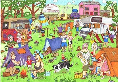 Happy Campers Puzzel 1000 Stukjes