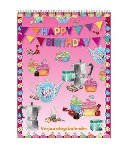 Comello Happy Birthday Verjaardagskalender A4