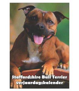 Qwebwinkel.nl Staffordshire Bull Terrier Verjaardagskalender