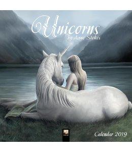 Flame Tree Anne Stokes Kalender 2019 Unicorn