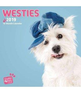 Browntrout West Highland White Terrier Kalender 2019 Myrna