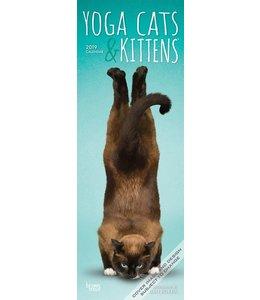 Browntrout Yoga Cats Kalender Slimline 2019