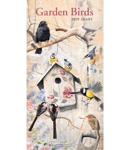 CarouselCalendars Garden Birds Pocket Agenda 2019