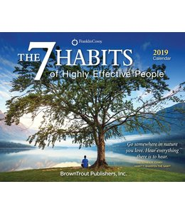 Browntrout 7 Habits Boxed Kalender 2019
