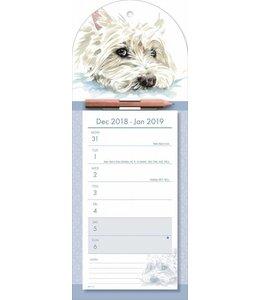 CarouselCalendars West Highland White Terrier Week Notitiekalender 2019