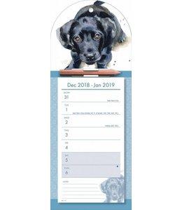 CarouselCalendars Labrador Retriever Weeknotitiekalender 2019