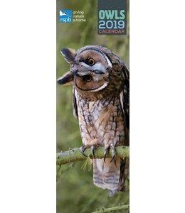 CarouselCalendars RSPB Uilen Kalender 2019 Slimline