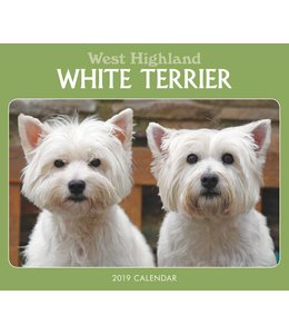 CarouselCalendars West Highland White Terrier Kalender 2019 Boxed