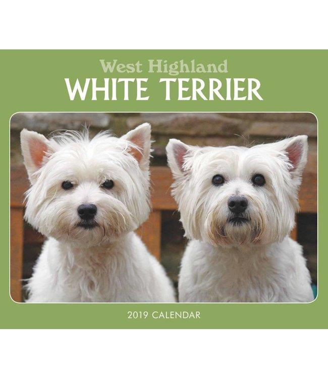 CarouselCalendars West Highland White Terrier Kalender 2019 Boxed