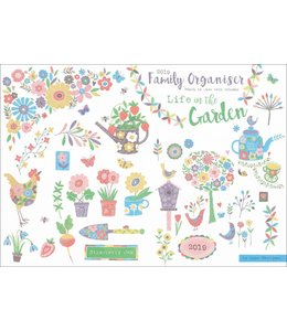 CarouselCalendars Life in the Garden A4 Planner 2019