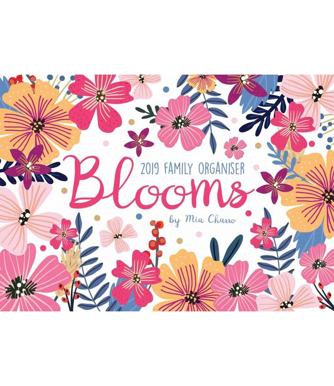 CarouselCalendars Blooms A4 Planner 2019