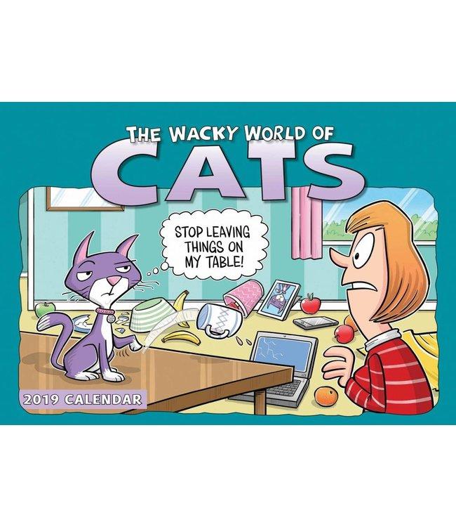 CarouselCalendars Wacky World of Cats A4 Planner 2019