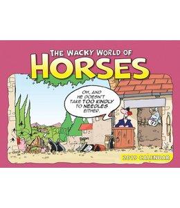 CarouselCalendars Wacky World of Horses A4 Planner 2019