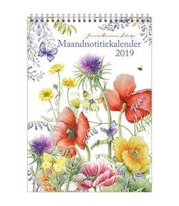 Comello Janneke Brinkman Maandnotitiekalender 2019 Veldbloemen