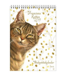 Comello Franciens Katten Weeknotitiekalender 2019 Gold