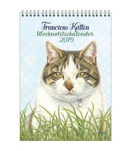 Comello Franciens Katten Weeknotitiekalender 2019 Kater