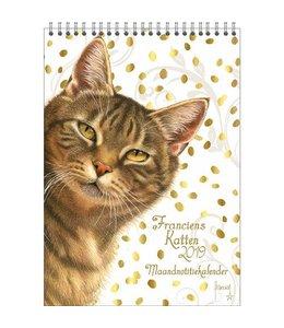 Comello Franciens Katten Maandnotitiekalender 2019 Gold