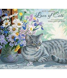 Lang Love of Cats Kalender 2019