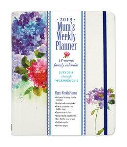 Peter Pauper Mum's Weekly Planner 2019 Hydrangeas