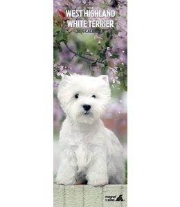 Magnet & Steel West Highland White Terrier Kalender 2019 Slimline