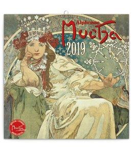 Presco Alphonse Mucha Kalender 2019