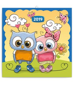 Presco Wise Owl Family Kalender 2019
