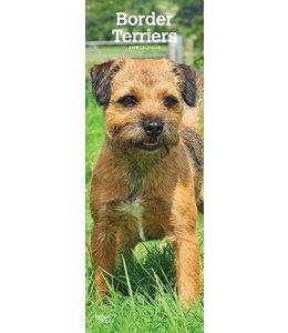 Browntrout Border Terrier Kalender Slimline 2019