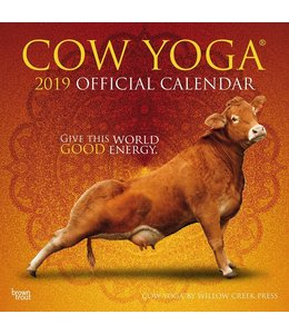 Browntrout Cow Yoga Kalender 2019