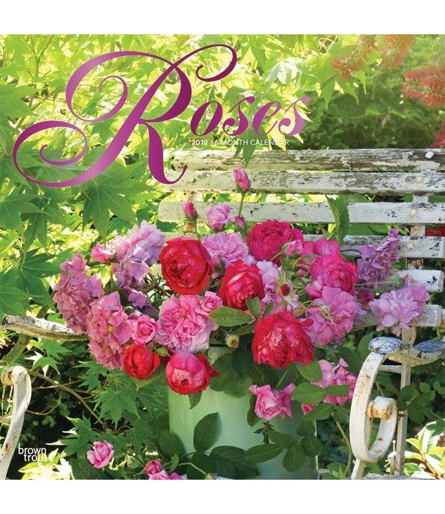 Browntrout Roses Kalender 2019