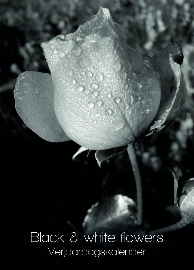 Black White Flowers Verjaardagskalender Qwebwinkelnl