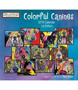 Delafield Colorful Canines Kalender 2019