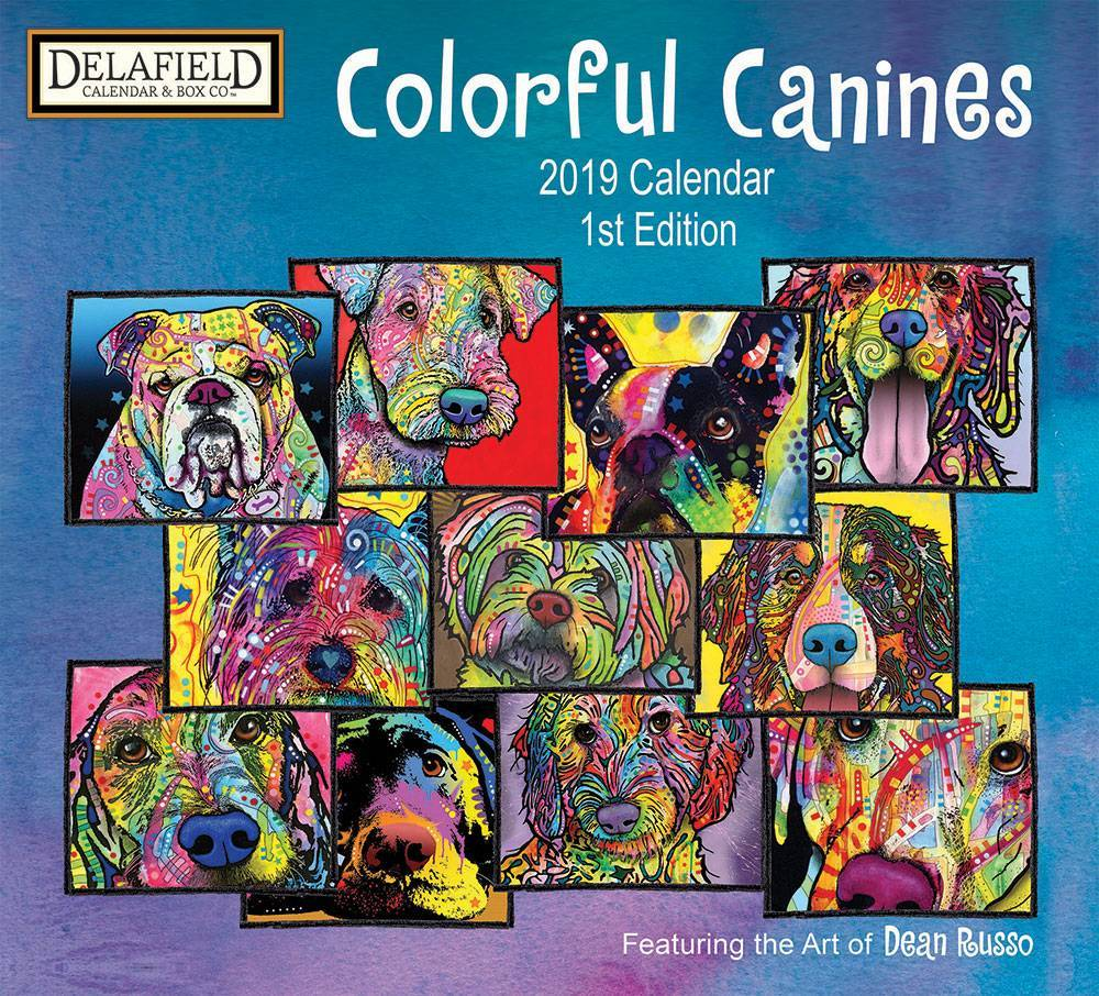 Colorful Canines Kalender 2019