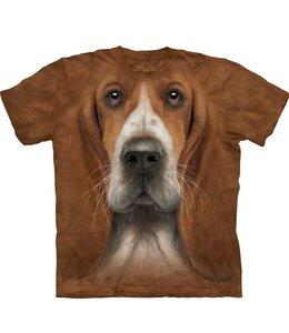 The Mountain Basset Hound Head T-shirt