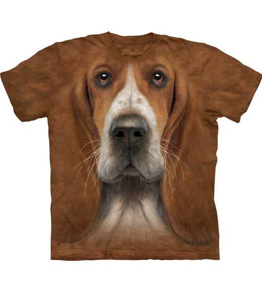 Basset Hound Head T-shirt