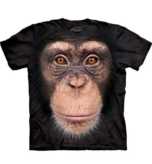 Chimp Face T-shirt Chimpansee