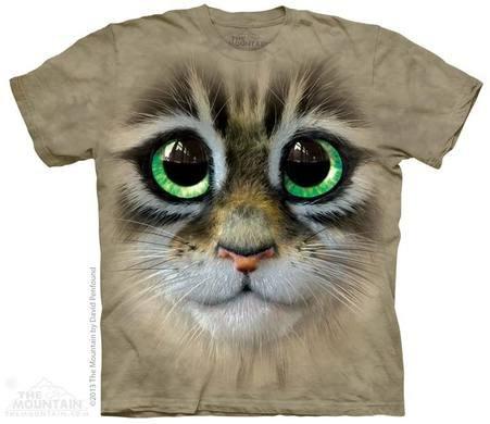 Big Eyes Kitten Face T-shirt