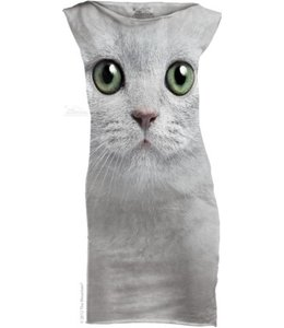 The Mountain Katten Green Eyes Face Mini Jurkje
