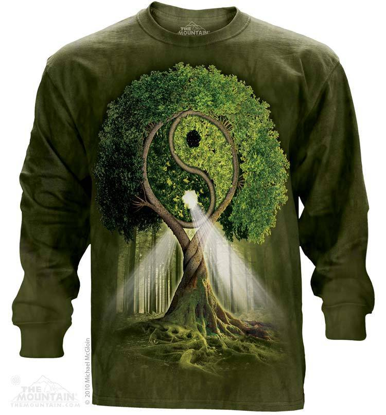 Yin Yang Tree T-shirt Long Sleeve