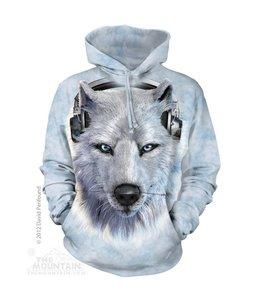 The Mountain White Wolf DJ Sweater met Capuchon