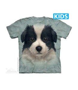The Mountain Border Collie Puppy Kids T-shirt