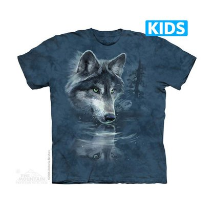 Wolf Reflection Kids T-shirt