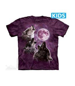 The Mountain 3 Wolf Moon Purple Kids T-shirt