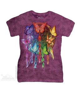 The Mountain Rainbow Butterfly Dreamcatcher Ladies T-shirt