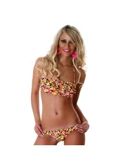 Neckholder Bikini met Bloemenprint Multicolor