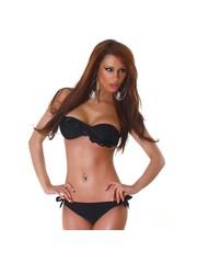 Gedraaide Bandeau Bikini in 8-vorm