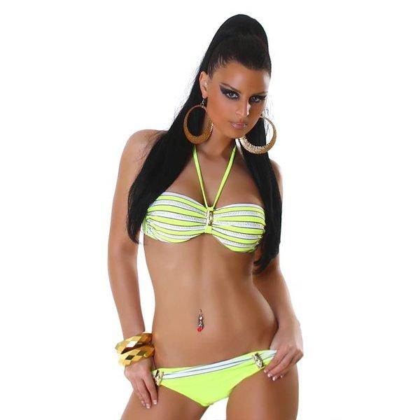 Neckholder Bikini met Fonkelende Steentjes