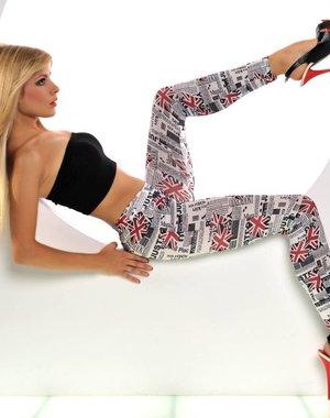 Fashion Legging met gedrukte UK vlagprint
