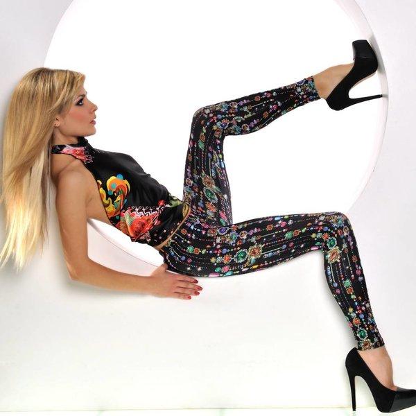 Fashion Legging met Fantasie Print